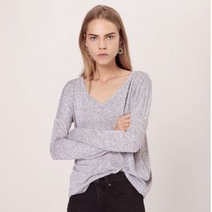 Rag & Bone/JEAN Theo Long-Sleeve V-Neck Tee
